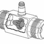 Устройство турбинного датчика протока воды