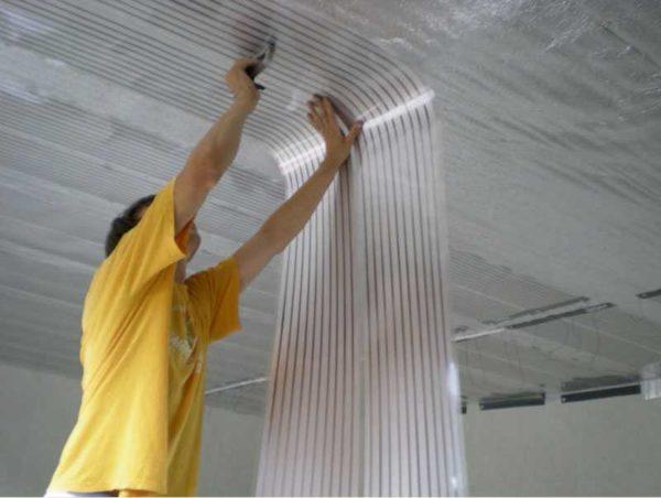 Пленочное отопление может быть на любой поверхности