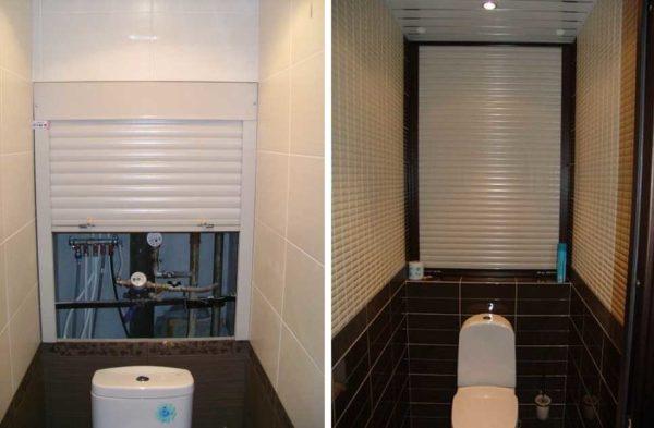Рольставни в туалете могут закрывать только часть стены
