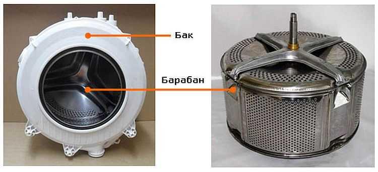 Из чего состоит бак для стиральной машины