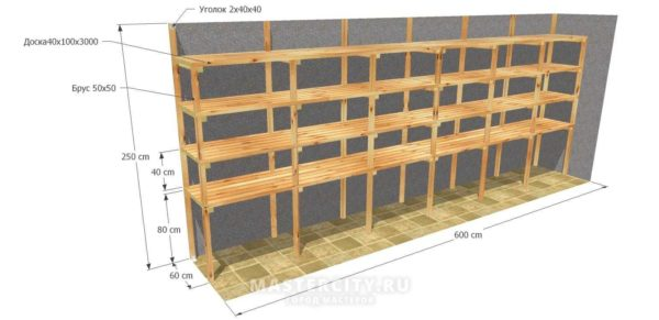 Деревянные полки в гараже своими руками
