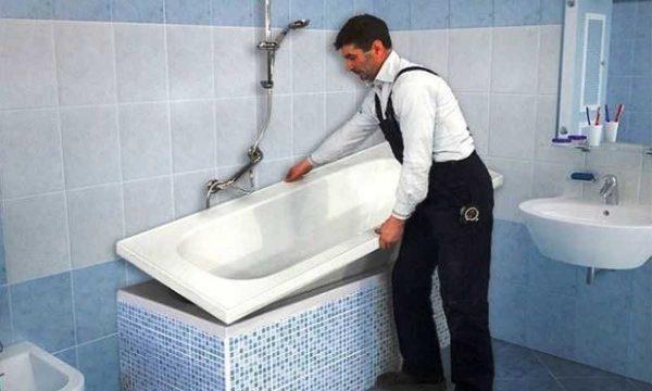 Акриловая вставка в ванну - быстрый способ обновить покрытие