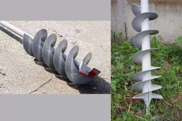 Шнековый бур отличается навитыми спирально несколькими оборотами спирали