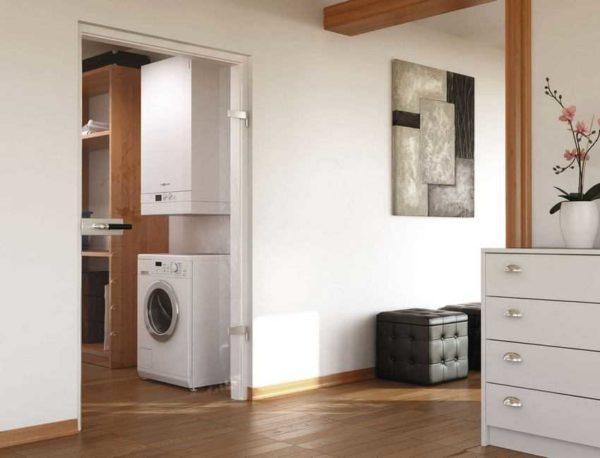 Настенные котлы можно устанавливать в кухнях