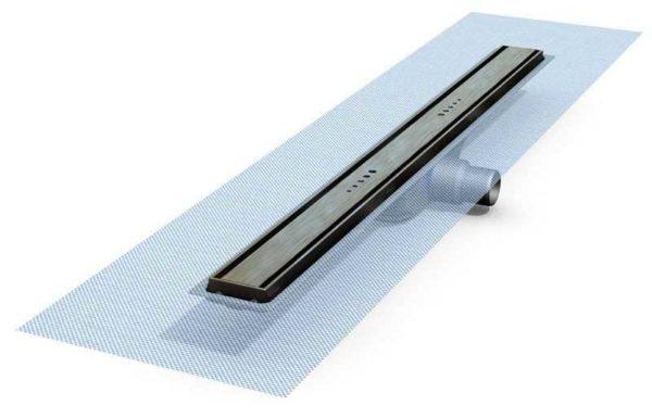 Линейный водяной трап отличается формой приемной камеры, само устройство и установка аналогичны