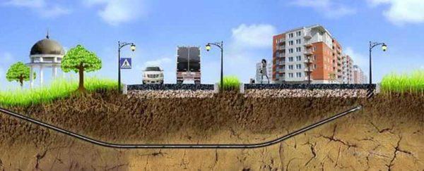 Прокол под дорогой делают при помощи специального оборудования