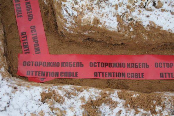Сигнальная лента предупредит при возможных земельных работах