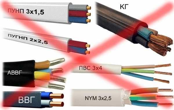Не предназначенные для подземной укладки кабели лучше не использовать