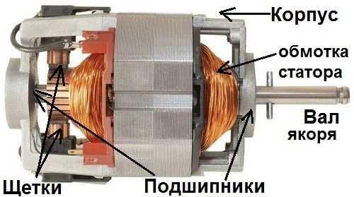 Строение коллекторного двигателя