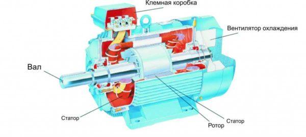 Строение асинхронного двигателя