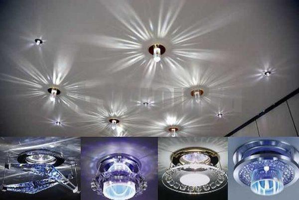 Есть точечные встраиваемые светильники, которые создают различные световые эффекты