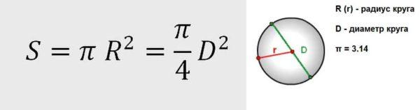 Формула расчета сечения провода по диаметру