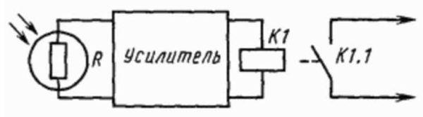 Схема фотореле для уличного освещения на фоторезисторе