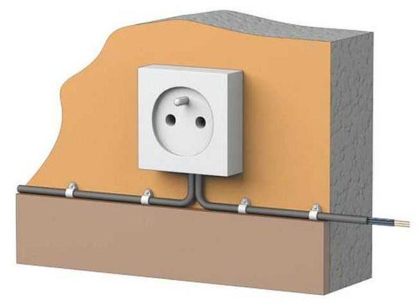 Укладывать кабель желательно по прямой - вертикально или горизотально