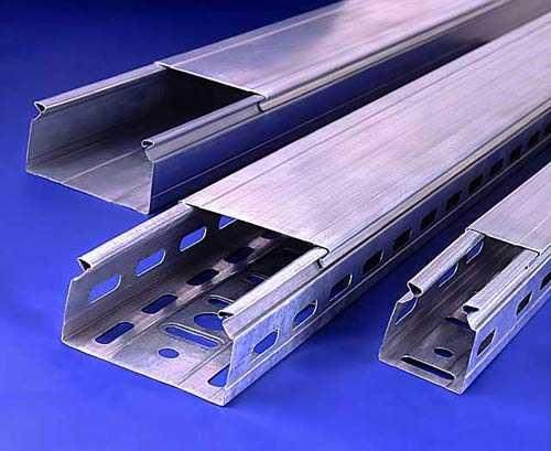 Виды кабельных лотков из металла