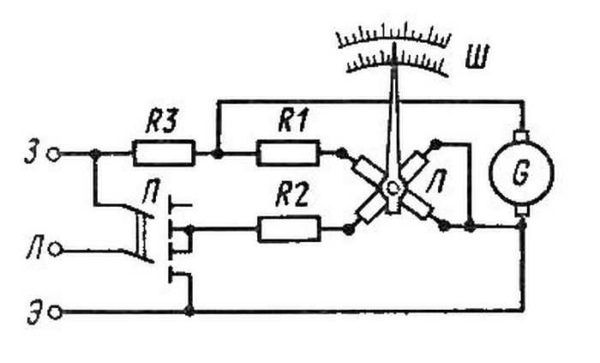 Примерная схема магаомметра