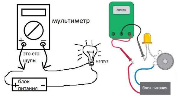 Как подключать мультиметр для измерения постоянного тока