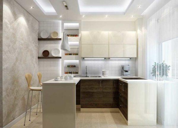 Подсветка может быть сделана в потолке из гипсокартона или с натяжным потолком