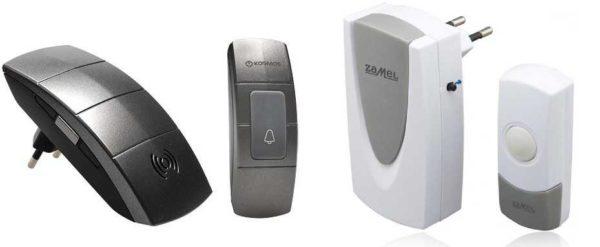 Беспроводные звонки с подключением внутреннего блока через розетку
