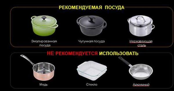 Большинство проблем с индукционной плитой связаны с неправильным подбором посуды