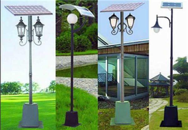 Солнечные светильники на высоких столбах