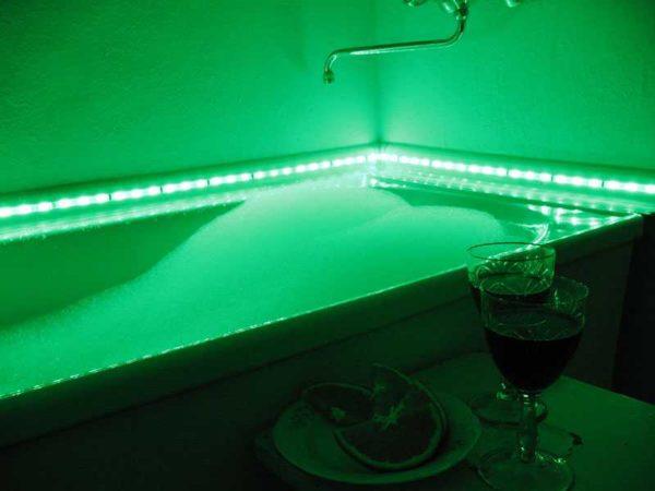 Цветная подсветка поможет расслабиться