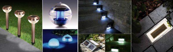 Светильники на солнечных батареях могут быть разными