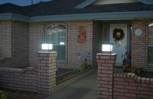 Охранное освещение участка основано на освещении ворот и забора