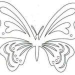 Трафарет для вырезания ажурных бабочек из бумаги