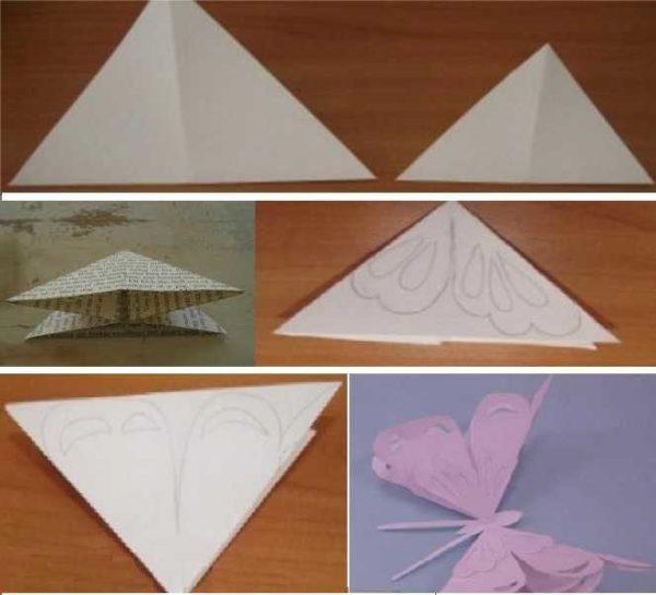 Объемные бумажные бабочки для декора
