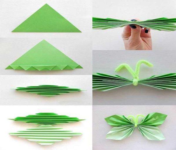 Как сделать бабочки из бумаги для декора стен