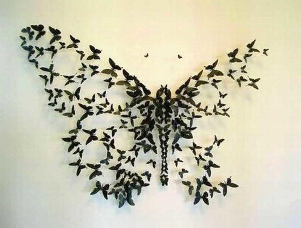 Большая бабочка из маленьких,,,