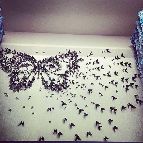 Еще один вариант с большой бабочкой...
