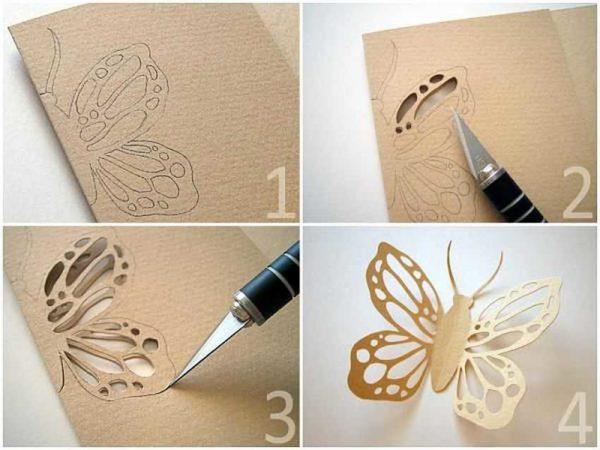 Как сделать ажурную бабочку из бумаги - процесс в картинках