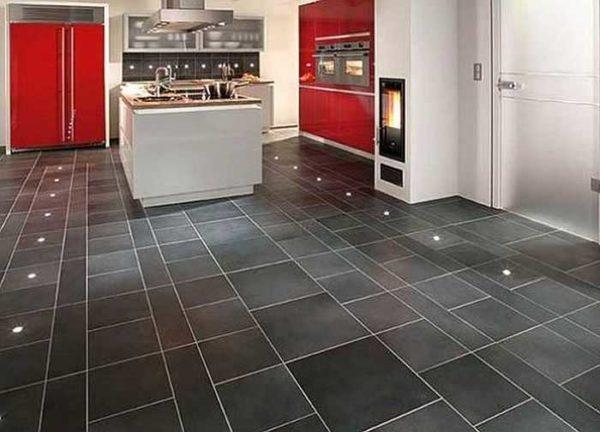 Линолеум в виде плитки - почему бы и нет))
