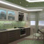 Зеленый с коричневым и серым - уютное и спокойное сочетание
