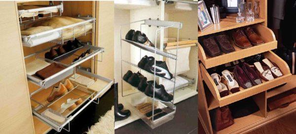 Идеи для хранения обуви в шкафу купе для прихожей