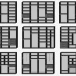 Примеры планировки шкафа купе для спальни внутри