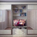 Шкаф купе с телевизором внутри