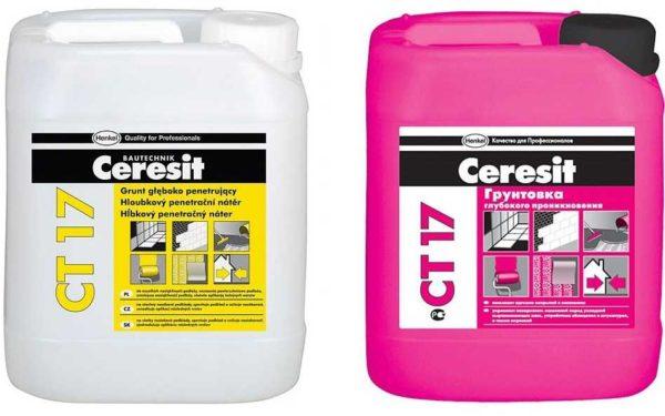 Грунтовка для гипсокартона фирмы Церезит (Ceresit) тоже подойдет для внутренних работ