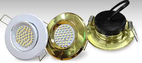 Точечные светильники с вмонтированными светодиодами