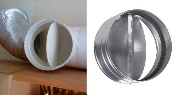 Так выглядит обратный или антивозвратный клапан для воздуховодов