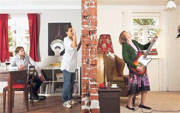 Чтобы не было слышно соседей, нужны серьезные меры