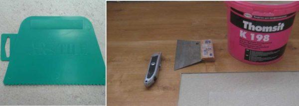 Виниловые панели для пола должны клеится на специальный клей