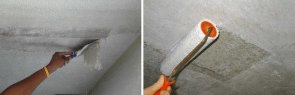 Перед тем как поклеить потолок плиткой его надо подготовить