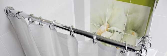 Штанга для шторы в ванную или душ из нержавеющей стали