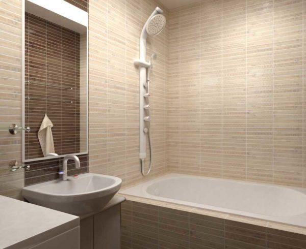 За матовой поверхностью проще ухаживать - не видны разводы от воды, а бежевые ванны еще и уютны