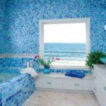 Мозаика в ванной - один из популярных вариантов