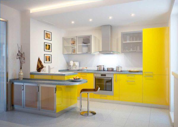 Не можете решить каким цветом покрасить стены кухни? Выберите серый, белый или бежевый - идеальны для ярких фасадов кухонных гарнитуров