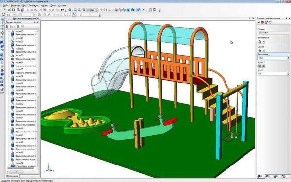 Для объемного моделирования, в том числе можно и интерьеры делать и плитку раскладывать